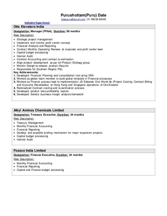 Purudate Resume