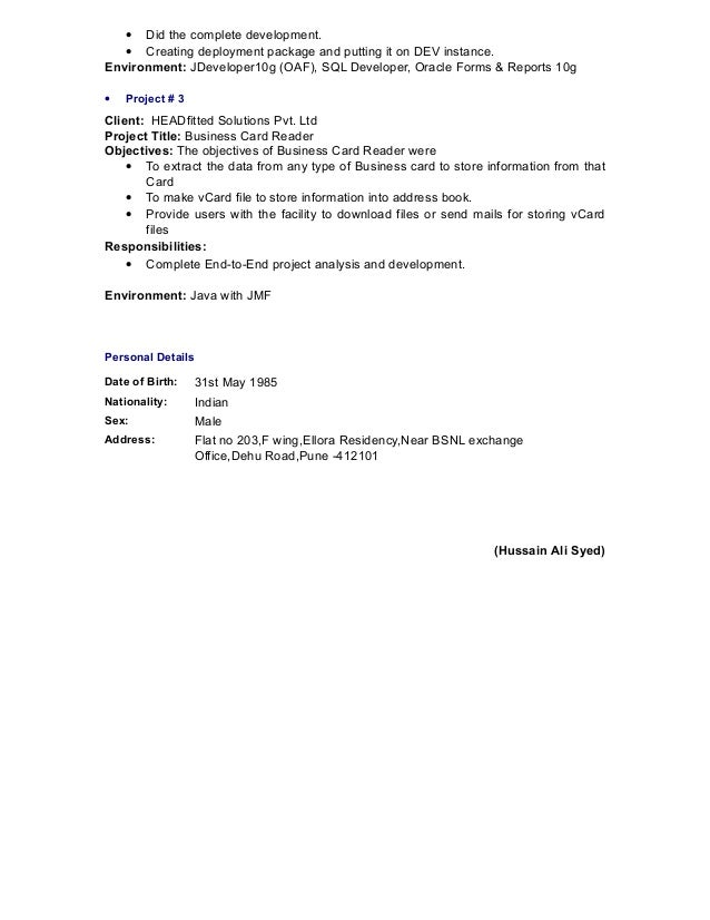 Oracle Forms And Reports Resume Oracle Forms And Reports Resume