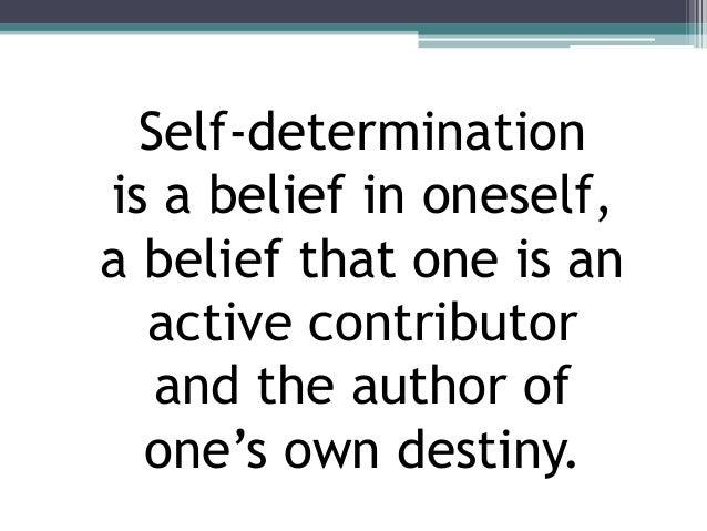 Self-Determination Slide 2