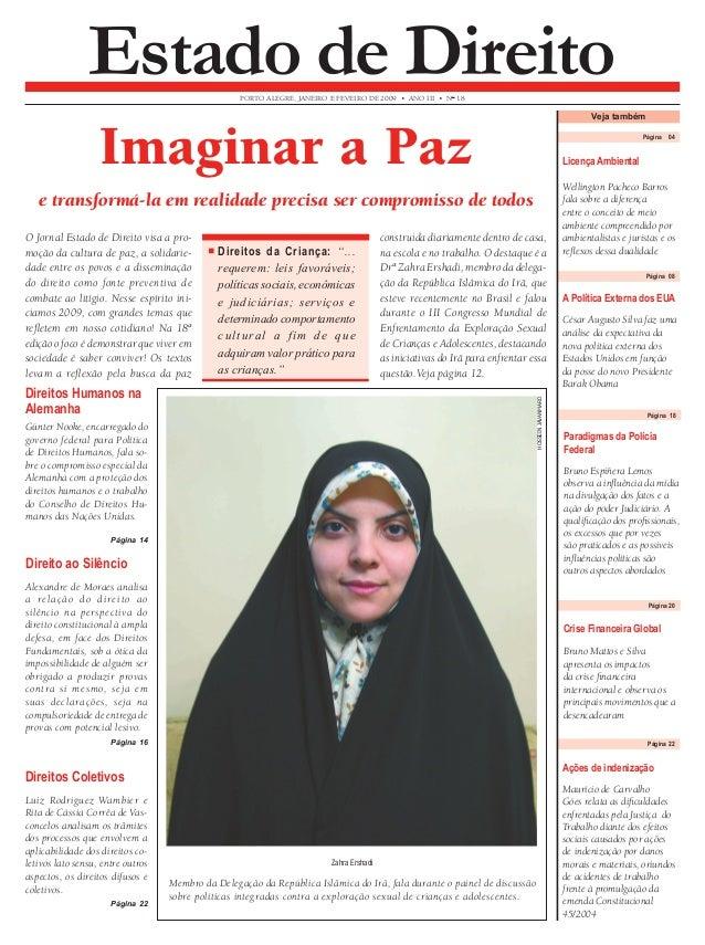 Página 04 Imaginar a Paz  Wellington Pacheco Barros  fala sobre a diferença  entre o conceito de meio  ambiente compreendi...