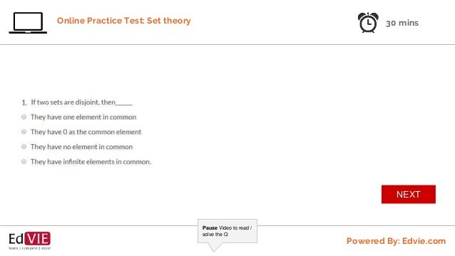 Set Theory Free Practice Test 1 - CBSE Class 10 Mathematics