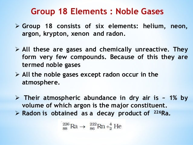 Amazing facts about noble gases...........