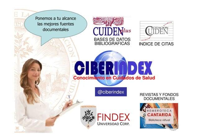 BASES DE DATOS BIBLIOGRAFICAS INDICE DE CITAS Ponemos a tu alcance las mejores fuentes documentales Conocimiento en Cuidad...