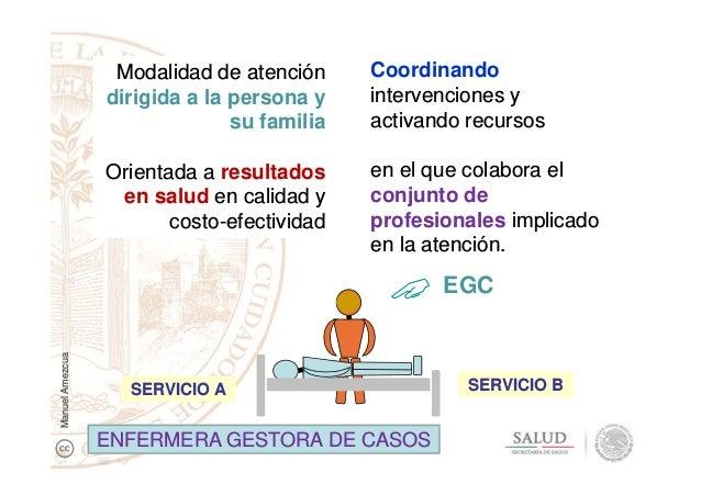 Coordinando intervenciones y activando recursos en el que colabora el conjunto de profesionales implicado en la atención. ...