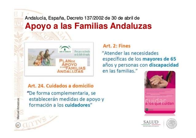 Andalucía, España, Decreto 137/2002 de 30 de abril de Apoyo a las Familias Andaluzas ManuelAmezcua
