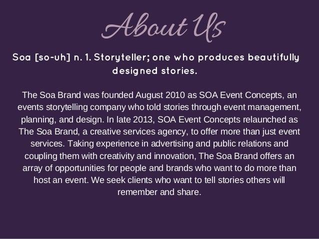 The Soa Brand Deck Slide 3