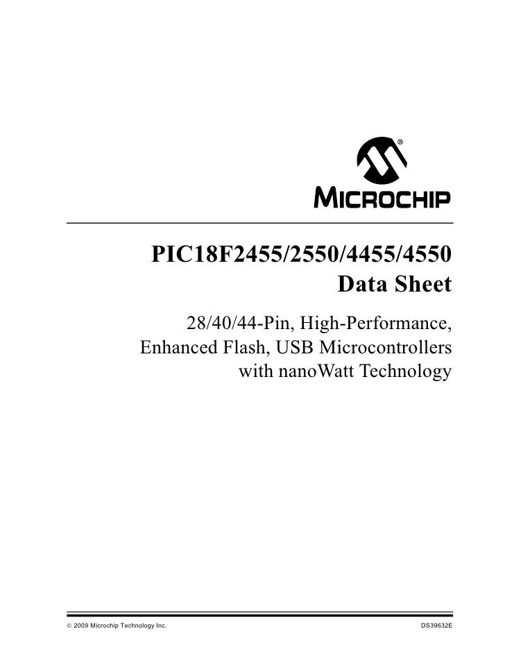 PIC18F2455/2550/4455/4550                                         Data Sheet                            28/40/44-Pin, High...