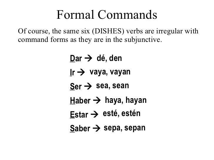 18 formal commands