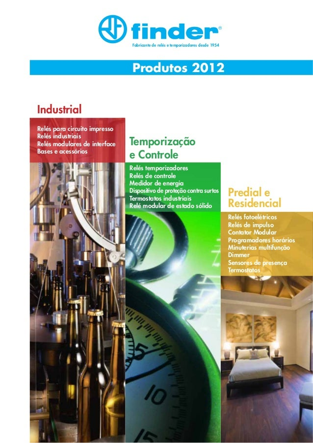 Fabricante de relés e temporizadores desde 1954  Produtos 2012 Industrial Relés para circuito impresso Relés industriais R...