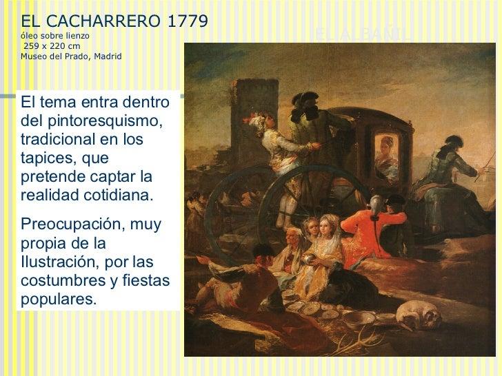 EL ALBAÑIL HERIDO  (1786-1787)  EL CACHARRERO   1779 óleo sobre lienzo 259 x 220 cm Museo del Prado, Madrid El tema entra ...