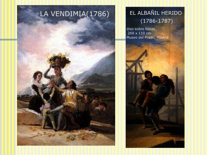 LA VENDIMIA(1786)  EL ALBAÑIL HERIDO  (1786-1787)   óleo sobre lienzo 268 x 110 cm Museo del Prado, Madrid