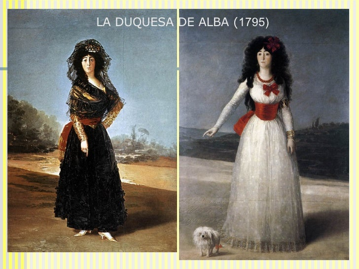 EL ALBAÑIL HERIDO  (1786-1787)  LA DUQUESA DE ALBA ( 1795)