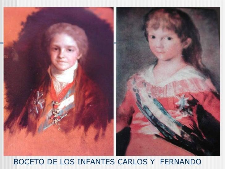 BOCETO DE LOS INFANTES CARLOS Y  FERNANDO