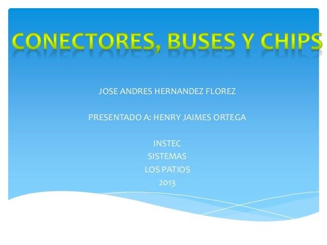 JOSE ANDRES HERNANDEZ FLOREZ PRESENTADO A: HENRY JAIMES ORTEGA INSTEC SISTEMAS LOS PATIOS 2013