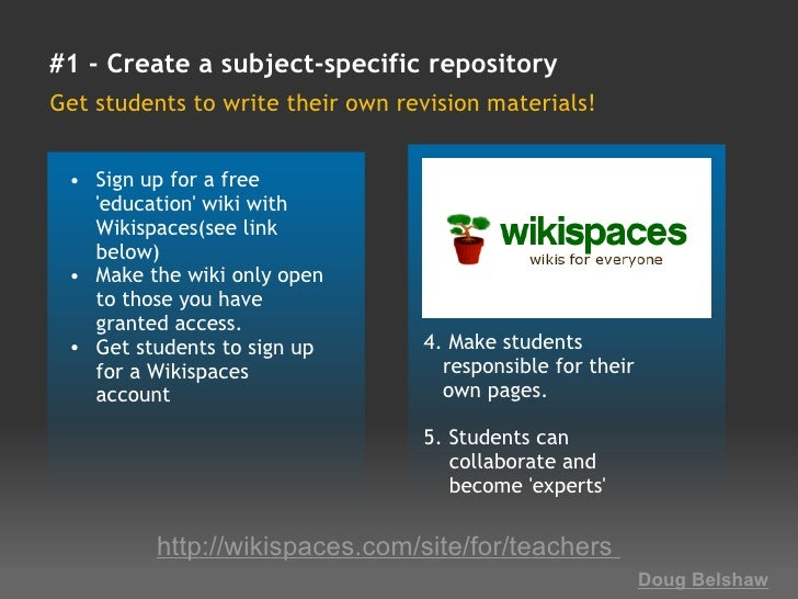 18 interesting ways_to_use_a_wiki_in_the_class Slide 3