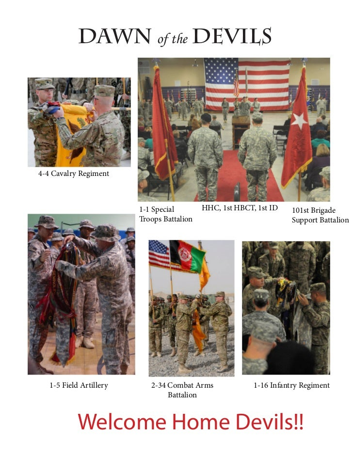 Dawn of the Devils4-4 Cavalry Regiment                         1-1 Special        HHC, 1st HBCT, 1st ID    101st Brigade  ...