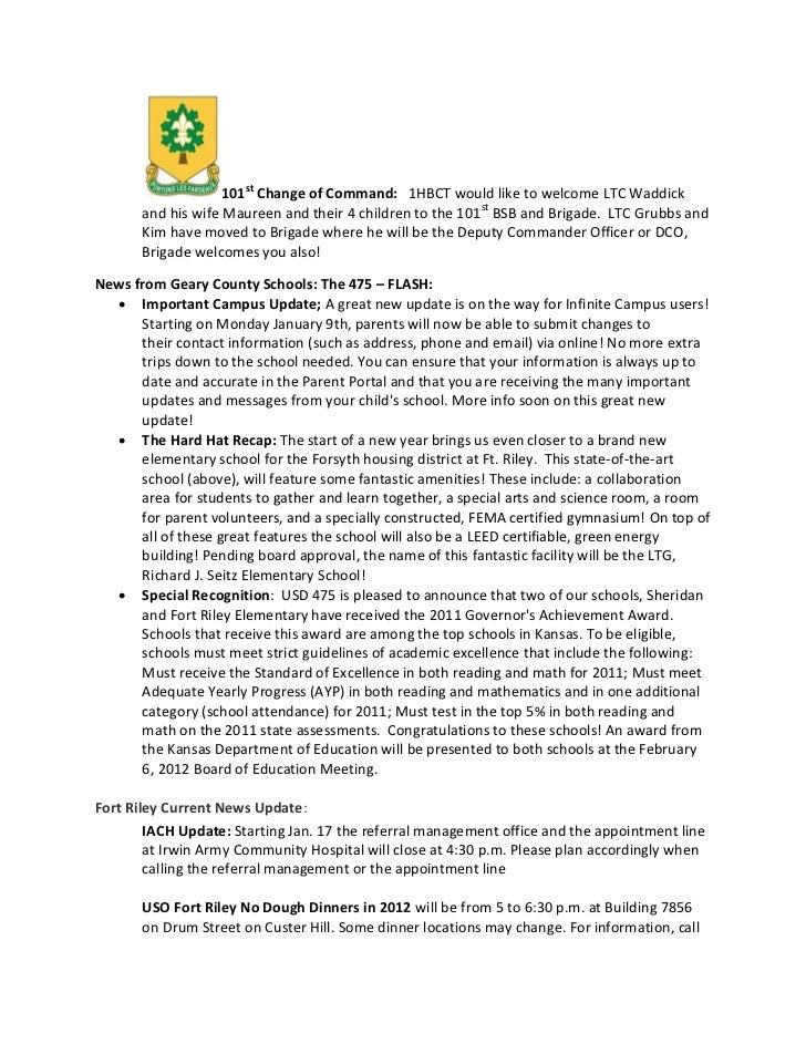 18 jan 2012 1HBCT Weekly News Update  Slide 2