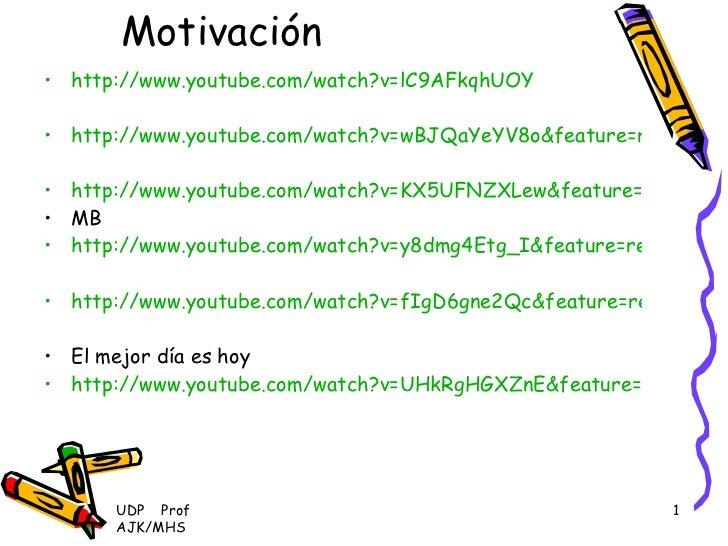 Motivación <ul><li>http://www.youtube.com/watch?v=lC9AFkqhUOY </li></ul><ul><li>http://www.youtube.com/watch?v=wBJQaYeYV8o...