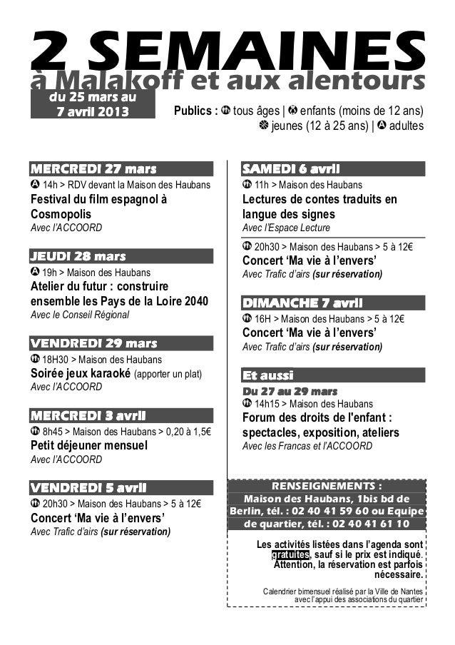 du 25 mars au     7 avril 2013                      Publics :   tous âges | enfants (moins de 12 ans)                     ...
