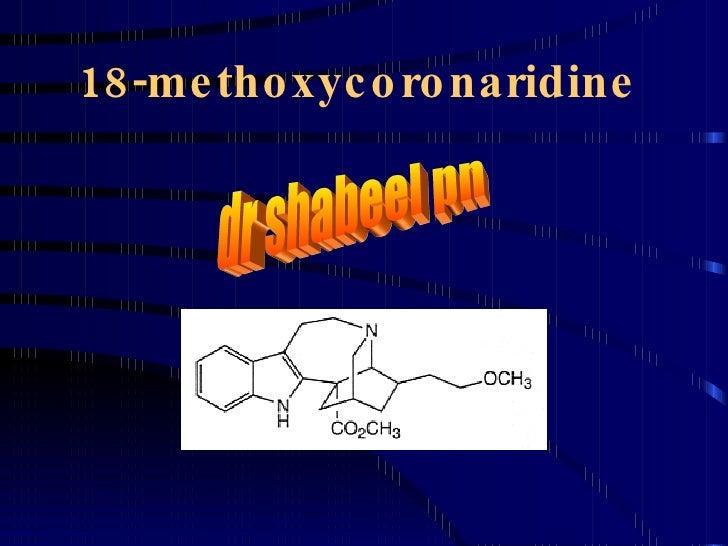 18-methoxycoronaridine dr shabeel pn