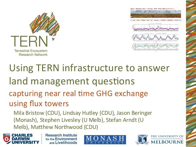 Using	  TERN	  infrastructure	  to	  answer	  land	  management	  ques8ons	  capturing	  near	  real	  8me	  GHG	  exchang...