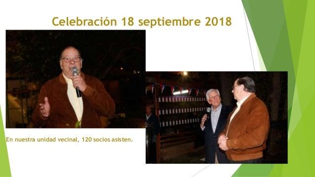 Celebraci�n 18 septiembre 2018 En nuestra unidad vecinal, 120 socios asisten.