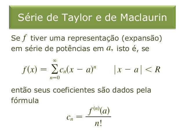 18 Series De Taylor E De Maclaurin
