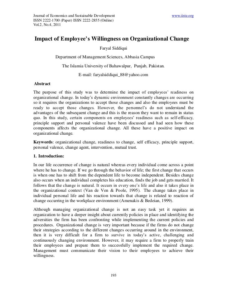 Journal of Economics and Sustainable Development                               www.iiste.orgISSN 2222-1700 (Paper) ISSN 22...