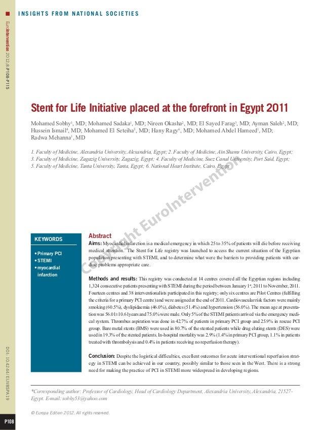 n                                  I N S I G H T S F R O M N AT I O N A L S O C I E T I E SEuroIntervention 2012;8:P108-P1...