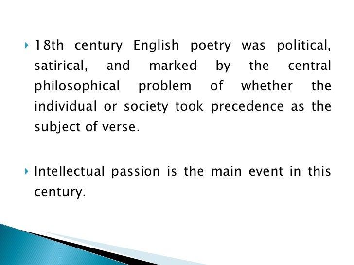 18th Century Poetry