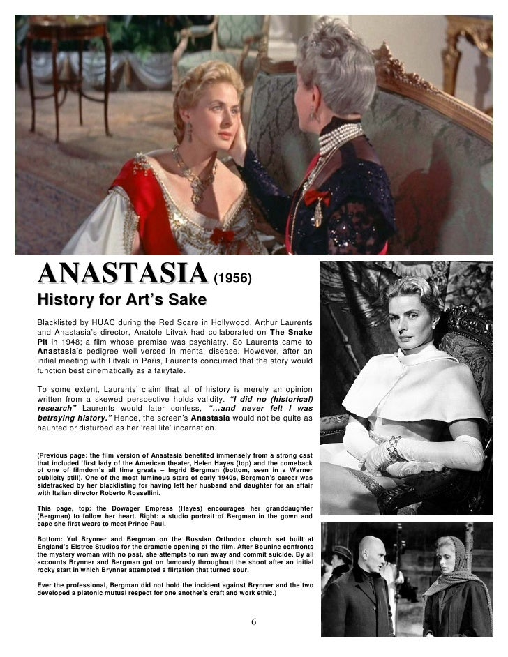 18) The Hollywood Art Anastasia (1956 1997)