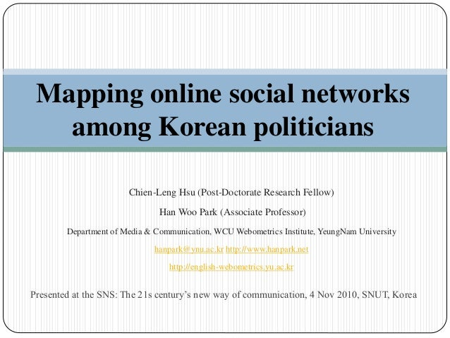 Presented at the SNS: The 21s century's new way of communication, 4 Nov 2010, SNUT, Korea Mapping online social networks a...