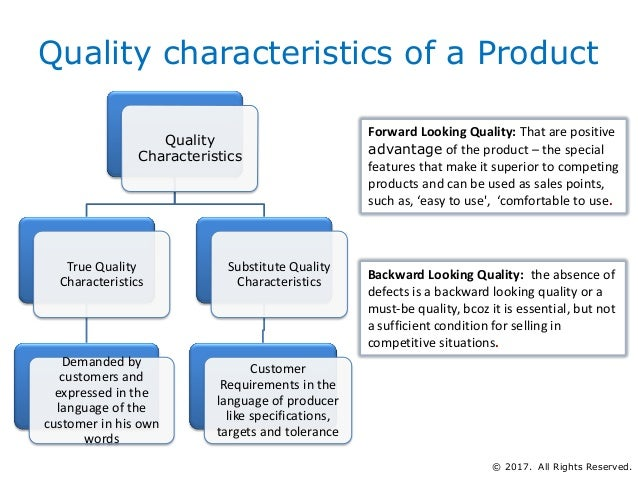 710ccadddac Quality characteristics of a Product Quality Characteristics True ...