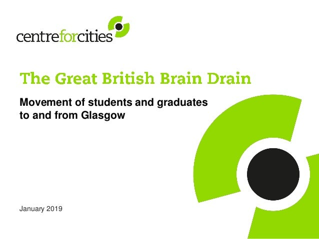 Movement of students and graduates to and from Glasgow January 2019