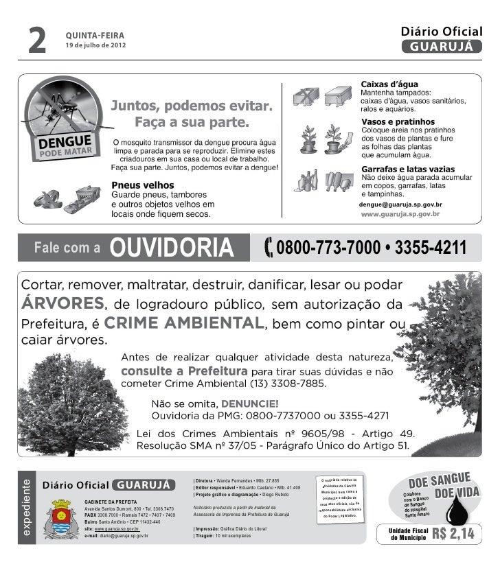 Diário Oficial de Guarujá - 19-07-2012 Slide 2