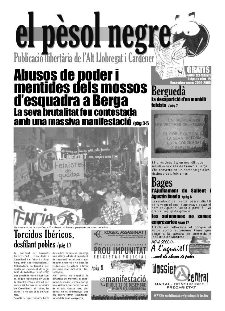 Publicació llibertària de l'Alt Llobregat i Cardener                                                                      ...
