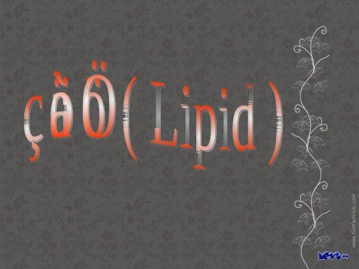 ลิพิด ( Lipid )