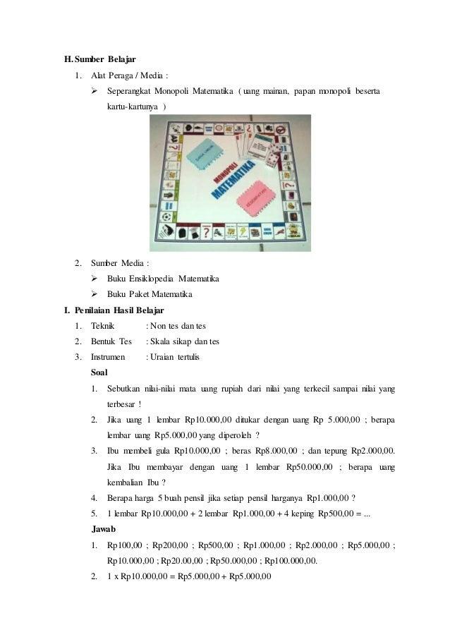 Rpp Lengkap Matematika Kelas 3 Sd Mi Semester 1
