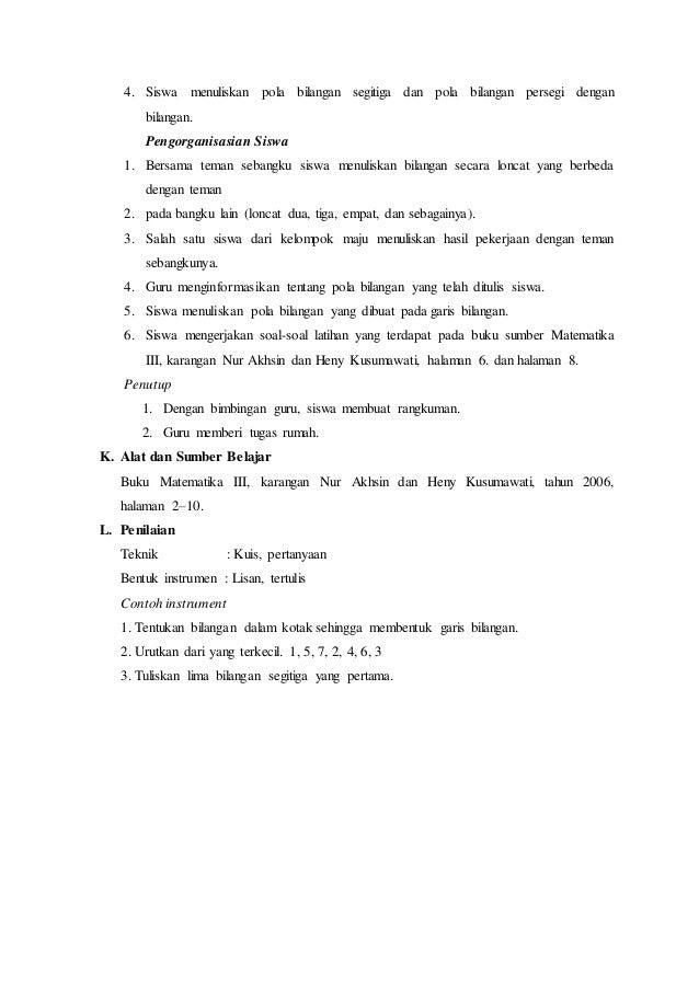 RPP Lengkap Matematika Kelas 3 SD/MI semester 1