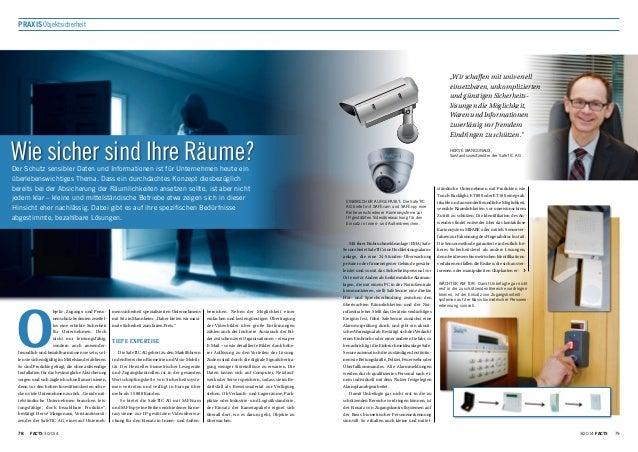 78 FACTS 3/201478 3/2014 FACTS 79 PraxisObjektsicherheit Wie sicher sind Ihre Räume?Der Schutz sensibler Daten und Informa...