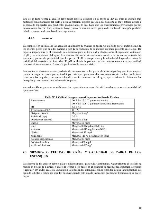 19 manual buenas pr cticas acu colas en el cultivo de la for Crianza de truchas en estanques