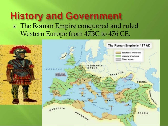  In 843, Charlemagne's Empire was divided among his sons.  The Western part became France,  The Eastern part called the...