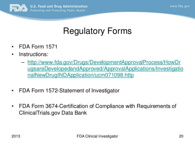 FDA 2013 Clinical Investigator Training Course: How do I put together…