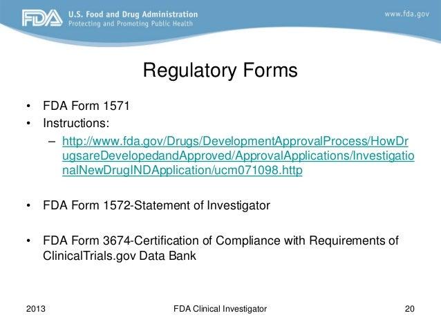 fda 2013 clinical investigator training course  how do i