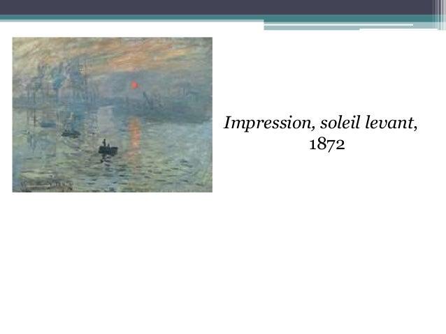 Impression, soleil levant, 1872