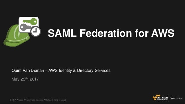 Advanced Techniques for Federation of the AWS Management