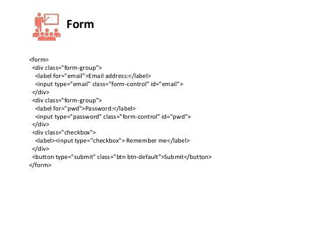 Web Design Course - Lecture 19 - Bootstrap, Form, Button