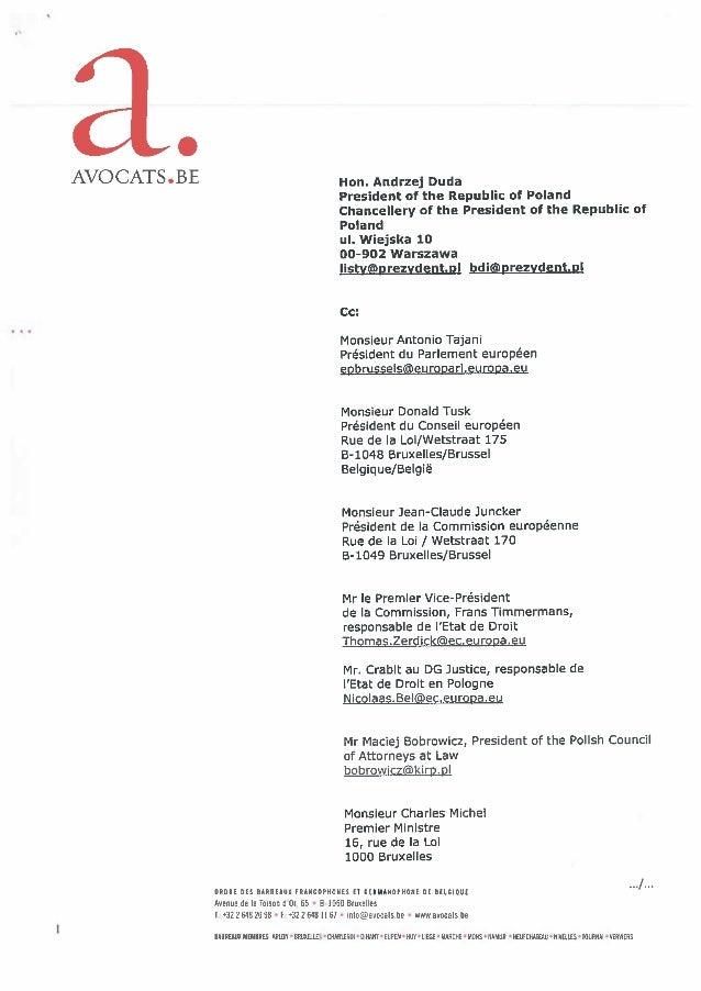 AVOCATS.BE dénonce les atteintes à l'état de droit en Pologne