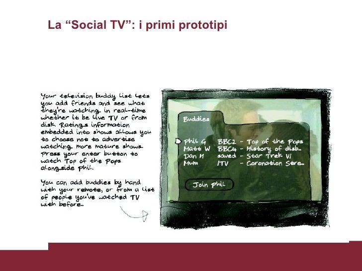 """La """"Social TV"""": i primi prototipi Tom Coates"""
