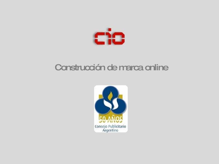 Construcción de marca online